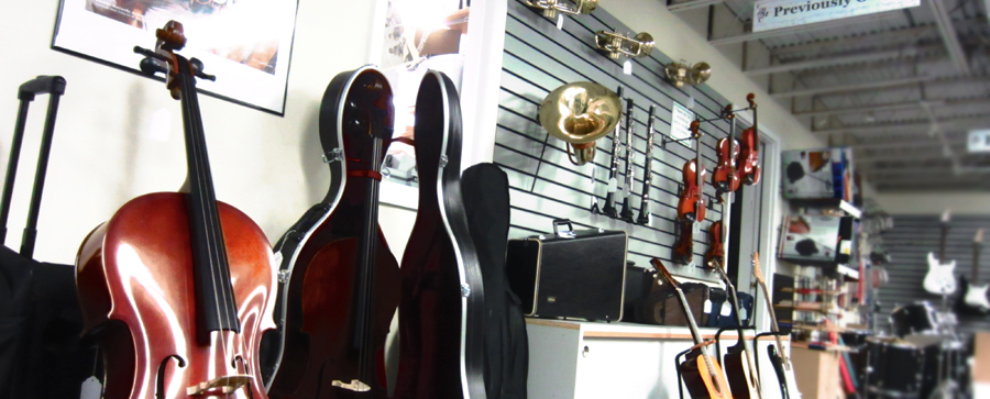 Used Instruments.  Certified, Pre-owned musical instruments refurbished through our own shop.
